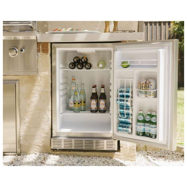 CBIR-R Coyote Outdoor 21 Inch Steel Built In Right Hinge Outdoor Refrigerator, Silver 3