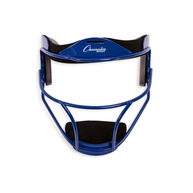 FMABL Champion Sports FMABL Adjustable Strap Adult Softball Fielder's Face Mask, Blue