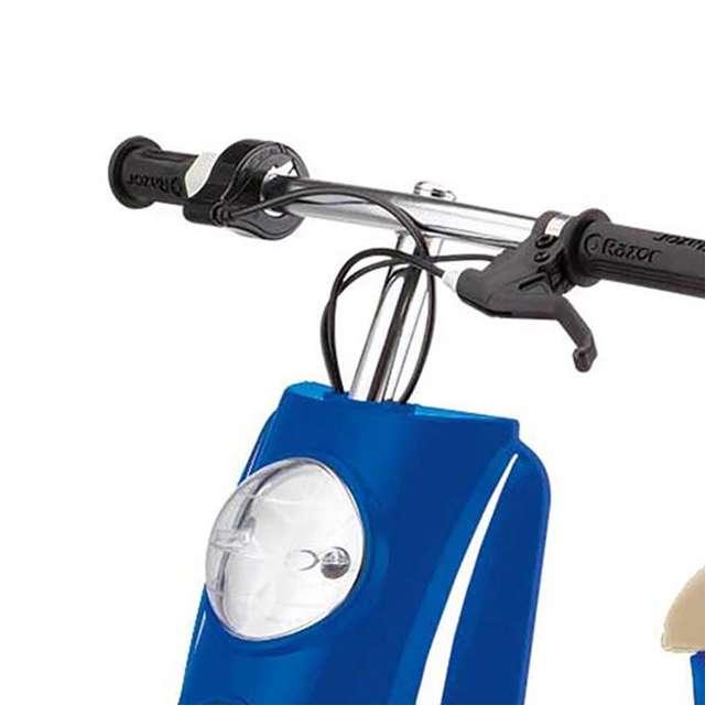 15130641 + 97780 Razor Pocket Mod Electric Motor Retro Kids Scooter, Blue & Helmet 4