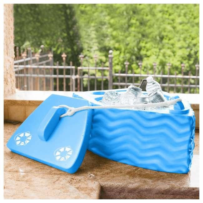 8841026 TRC Recreation Floating Super Soft Goodlife Drink Kooler for Pool/Hot Tub, Blue 3