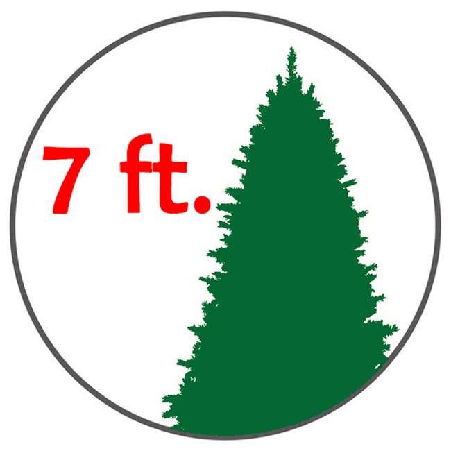 Half Christmas Tree.Home Heritage 7 Foot Pre Lit Led Artificial Half Christmas Tree