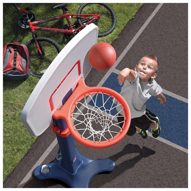 735700-U-B Step2 Durable Adjustable Child Pro Basketball Hoop and Ball, Blue (Used) 5