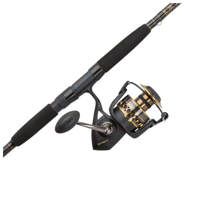 BTLII8000102H Penn BTLII8000102H Battle II HT100 Saltwater Spinning Fishing Reel and Rod Combo