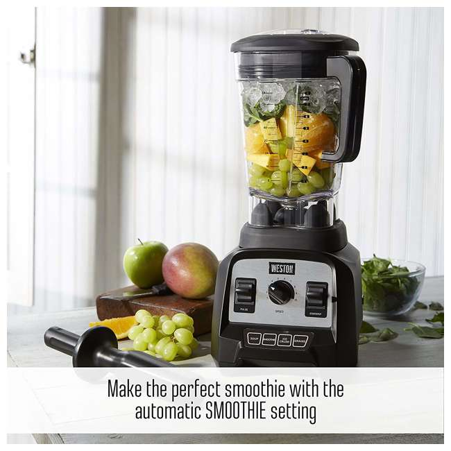 58914 Weston 58914 Professional 64 Ounce Countertop Blender w/ Recipe Book, Black 3