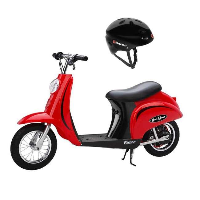 15130656 + 97780 Razor Pocket Mod Miniature Kids Electric Motor Scooter & Helmet