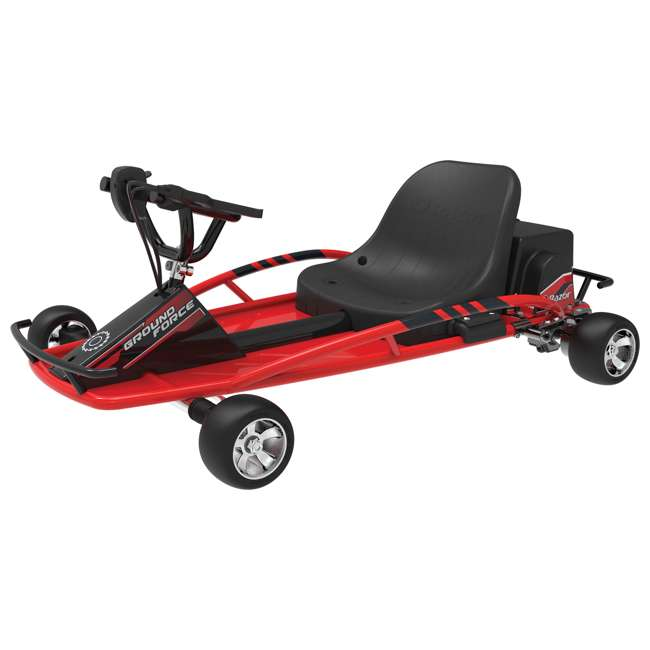 25141058-U-C Razor Ground Force 24V Electric Go Kart, up to 12 MPH, Red (For Parts)
