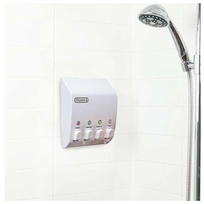 71450 Better Living Products 71450 Classic 4 Chamber Shower Organizer Dispenser, White 3