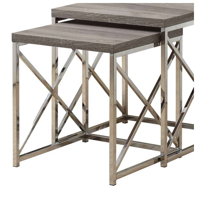 MS-VM3255-U-A Monarch Specialties 2-Piece Accent End Tables, Dark Taupe (Open Box) (2 Pack) 4