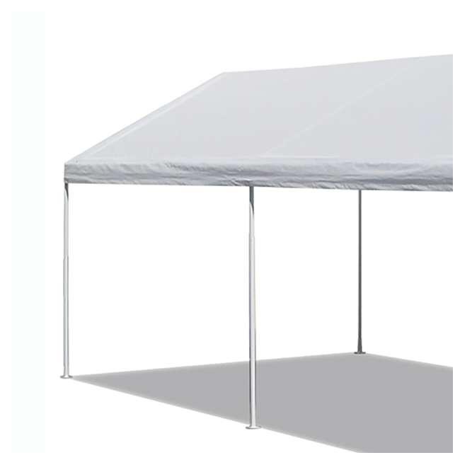 CVAN22006200010 Caravan Canopy Domain 10 x 20 Foot Straight Leg Instant Canopy, White 3
