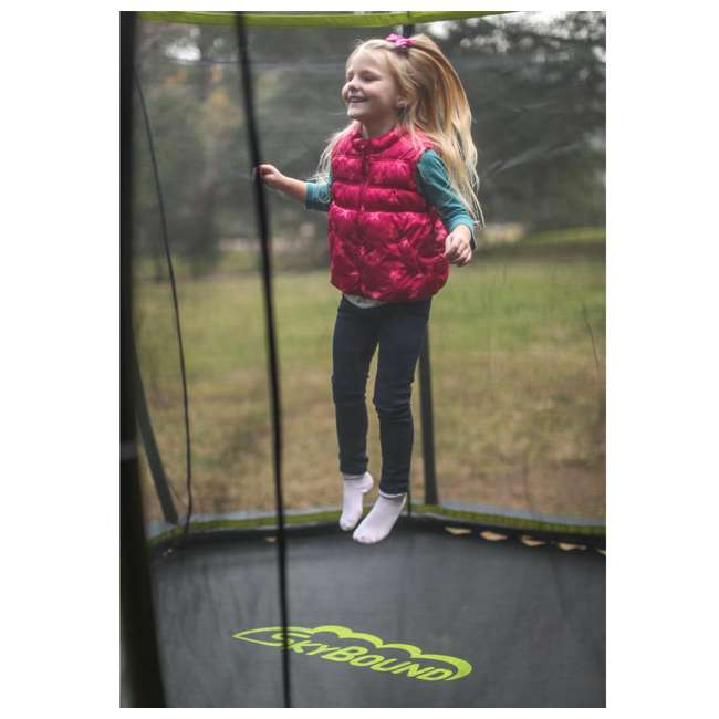 SB-T08ATM02 8-Foot Octagonal Black Trampoline With Safety Net 4