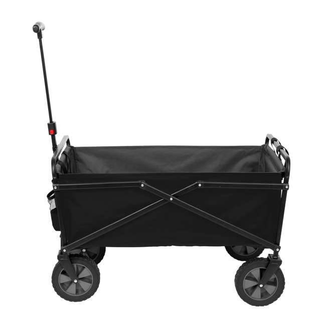 SUW-302-BLACK-GREY-U-A Seina Heavy Duty Compact 150 lb Capacity Outdoor Cart, Black/Gray (Open Box)