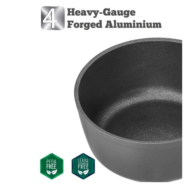 SFSAUCE1.5T Saflon SFSAUCE1.5T 1.5 Nonstick Quart Titanium Aluminum Sauce Pan with Lid, Gray 2