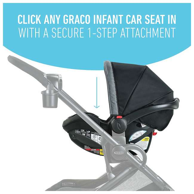 2083433 Graco Modes2Grow 4 in 1 Convertible Double Baby Toddler Stroller, Spencer Gray 4