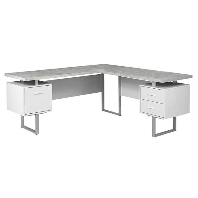 VM-7307 Monarch Specialties 70-Inch Computer Desk, White