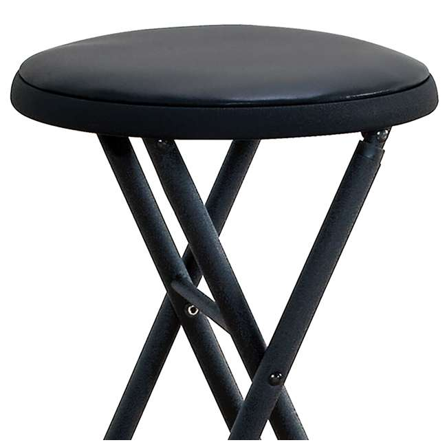 Cosco 24 Inch Plastic And Metal Folding Stool 37801blk4