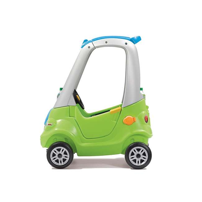 845100-U-A Step2 Toddler Push Ride On Toy Car for Kids Easy Turn Coupe in Green (Open Box) 2