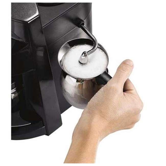 BVMC-ECM260 Mr. Coffee BVMC-ECM260 Steam Espresso Machine Frother, Stainless Steel/Black 2