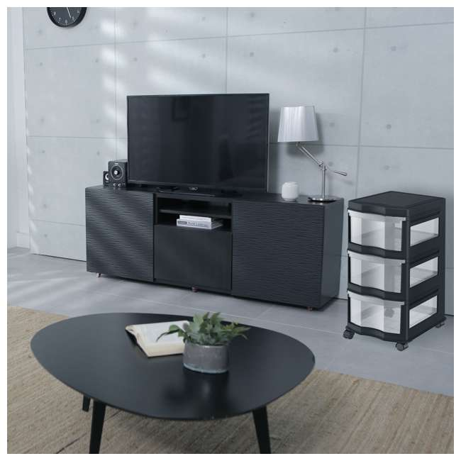3 x DRW3-M-BL Life Story Classic 3-Shelf Storage Organizer Drawers, Black (3 Pack) 4