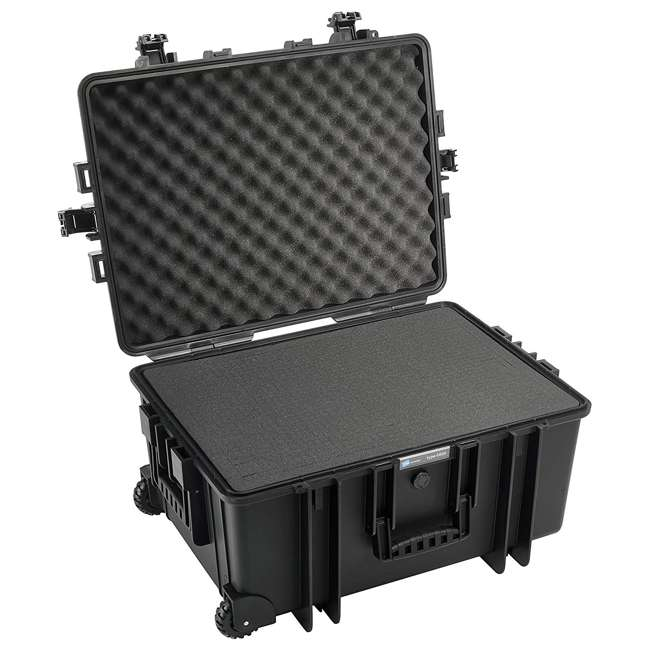 6800/B/SI B&W International 6800/B/SI 70.9 L Plastic Outdoor Case w/ Wheels & Foam Insert 1