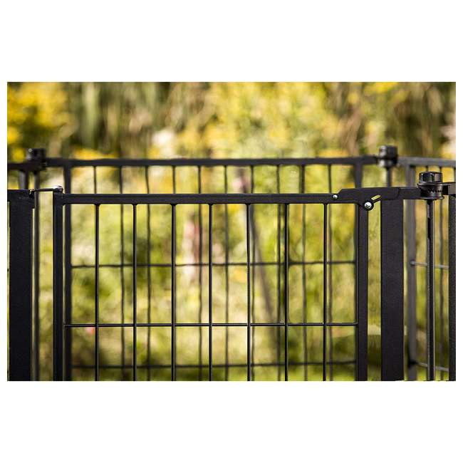 CAR480 Carlson 36-Inch Tall Outdoor Super-Wide Pet Pen and Gate, Black 3