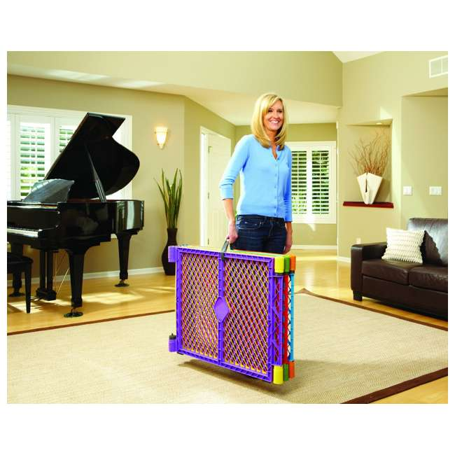 8769 + NS-8910 North States Color 6-Panel Superyard Baby/Pet Gate + Folding ABC Baby Play Mat 4
