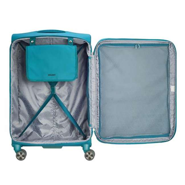 """40229182032 DELSEY Paris 25"""" Expandable Spinner Upright Hyperglide Luggage Suitcase, Teal 2"""