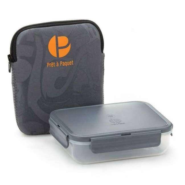 6 x S2002 Pret a Paquet Plastic Compact Airtight Salad Lunch Box (6 Pack) 1