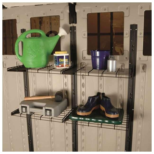 BMSA1S Suncast BMSA1S Versatile Heavy-Duty Wire Shed Storage Tier Shelf Storage Kit 1