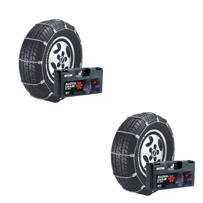 SC1032 Radial Chain Cable Traction Tire Snow Chain Set (2 Pack)
