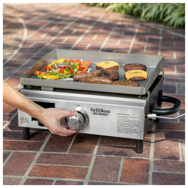 GBT1860V Grill Boss Edge Portable LP Gas Propane Griddle 6