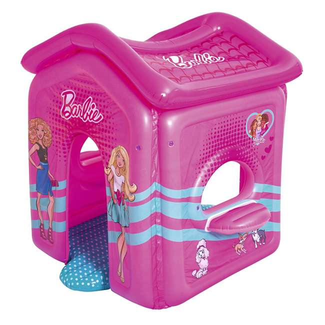 93208E-BW Bestway Indoor Toddler Kid Inflatable Barbie Malibu Playhouse 2