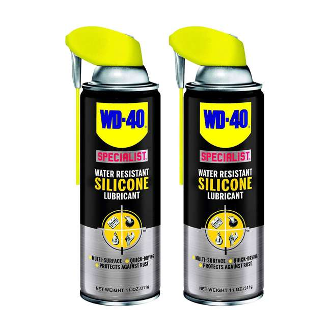 WD-300012 WD-40 Specialist Water Resistant Silicone Lubricant (2 Pack)