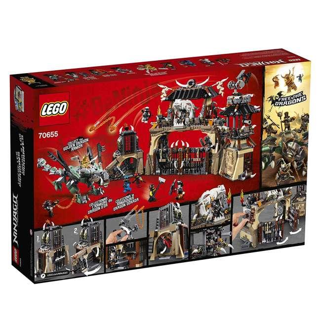 6212703-U-A LEGO NINJAGO Dragon Pit 1660 Piece Castle Set 9 Minifigure Characters (Open Box) 6