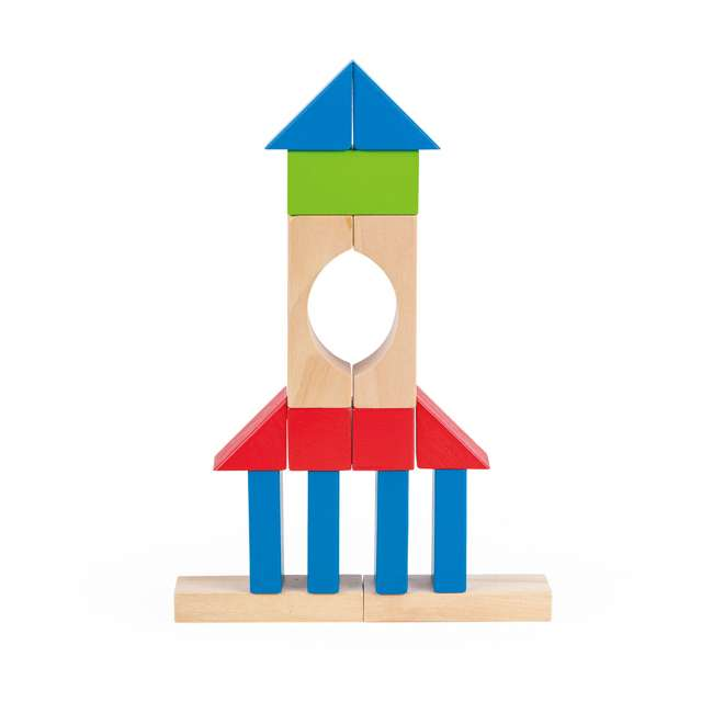 4 x HAP-E0427 Hape Kid's Build Up and Away Wood Blocks Toy Set (4 Pack) 5