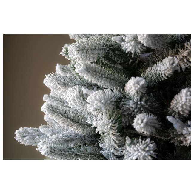 TG70P3A45S04-U-B Home Heritage 7' Frosted Alpine Quick Set Flocked Christmas Lit Tree (Used) 6