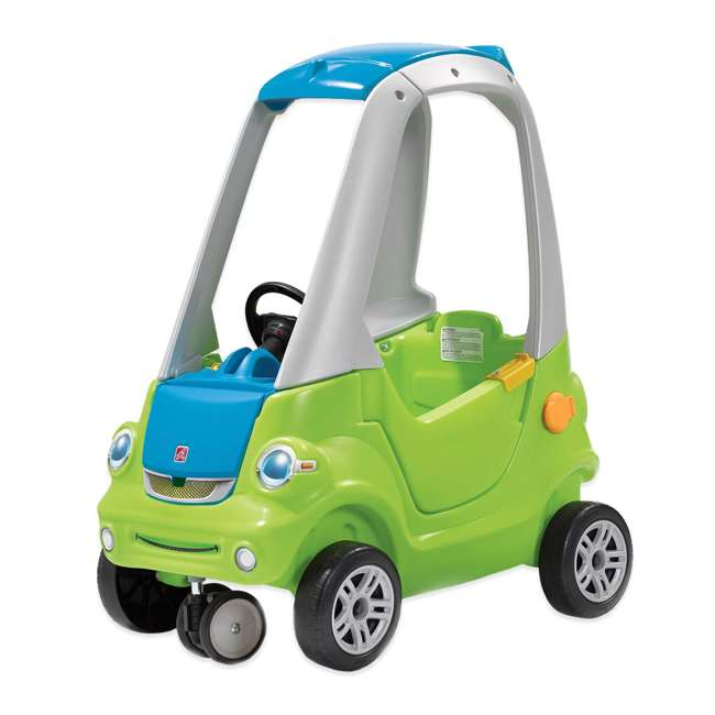 845100-U-A Step2 Toddler Push Ride On Toy Car for Kids Easy Turn Coupe in Green (Open Box)