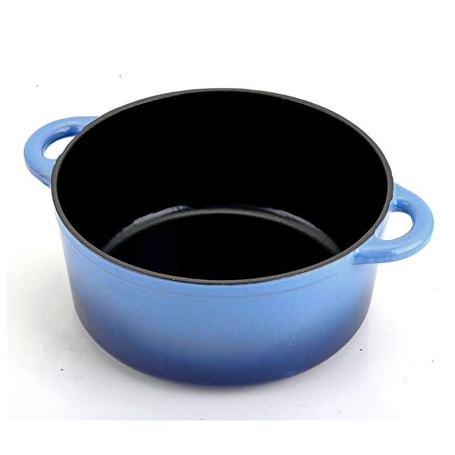 HAR112 Hamilton Beach 5.5-Quart Enameled Dutch Oven Pot, Blue (2 Pack) 6