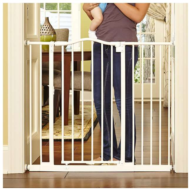 NS-4978 + NS-4974 North States Portico Arch Tall & Wide Safety Gate & 13.42 Inch Extension, Ivory 5