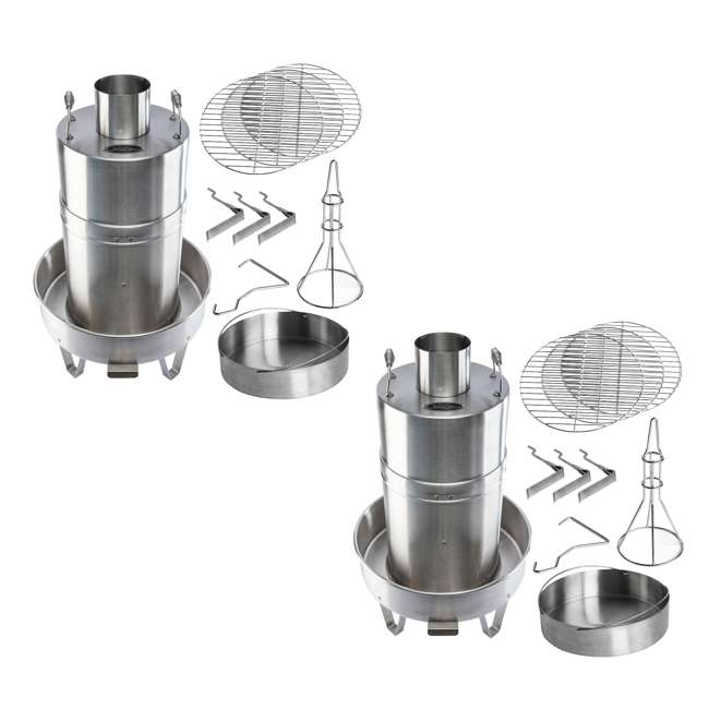 OC-CKR01 Orion Cooker Outdoor Convection Cooker Stainless BBQ Smoker Turkey Fryer 2 Pack