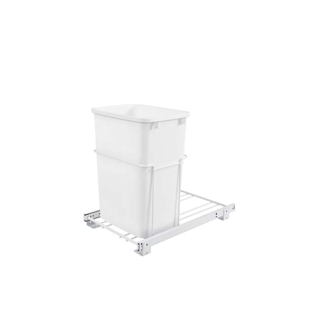 RV-18PB-1-20 Rev-A-Shelf RV-18PB-1 Single 35 Quart Base Cabinet Pull Out Waste Container