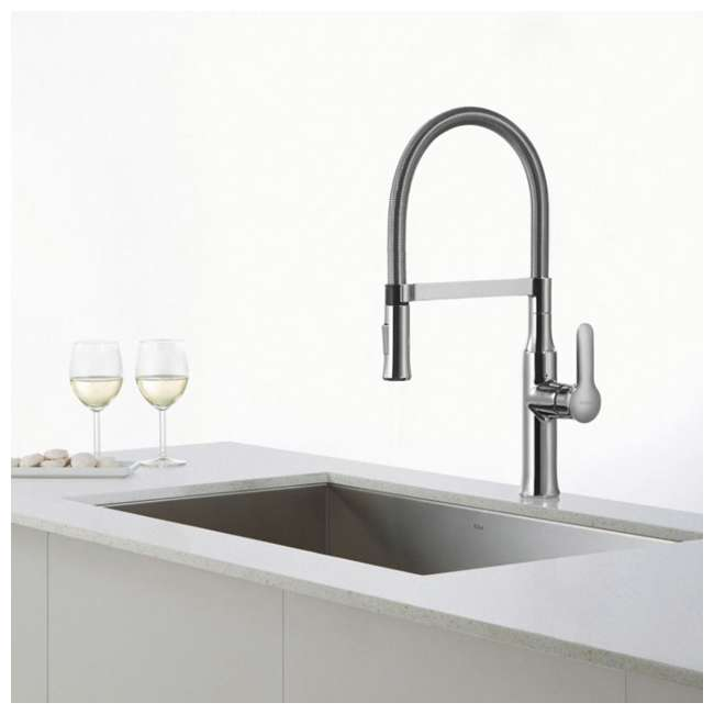 KPF-1640CH Kraus Nola Single Lever Pull-Down Kitchen Faucet, Chrome 2