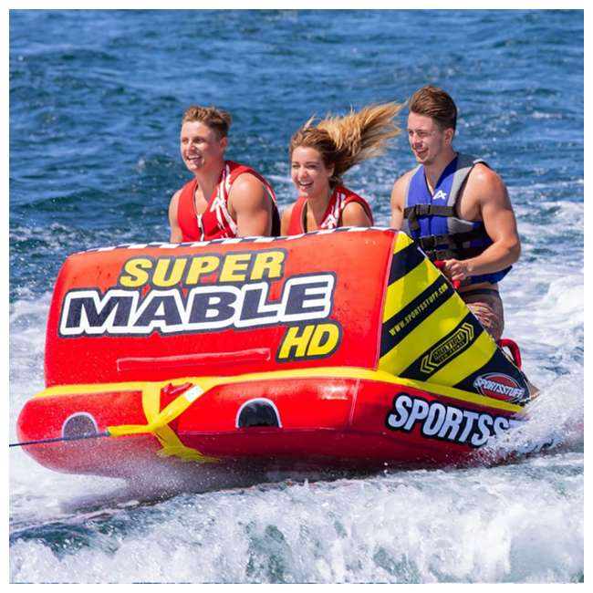 53-2225 Kwik Tek Super Mable HD 2-Person Towable Chariot-Style Inner Tube  2