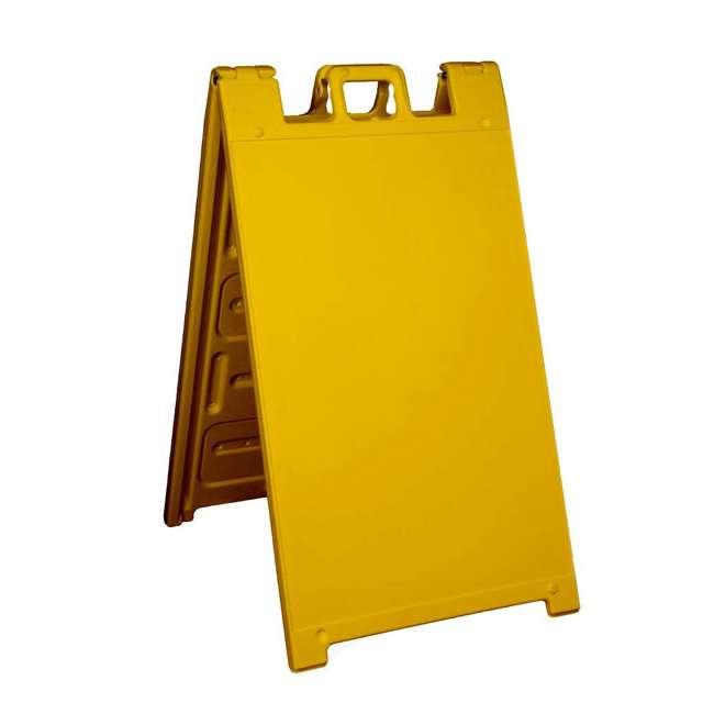 130-Y Plasticade 130-Y Signicade A Frame Plain Portable Folding Sidewalk Sign, Yellow