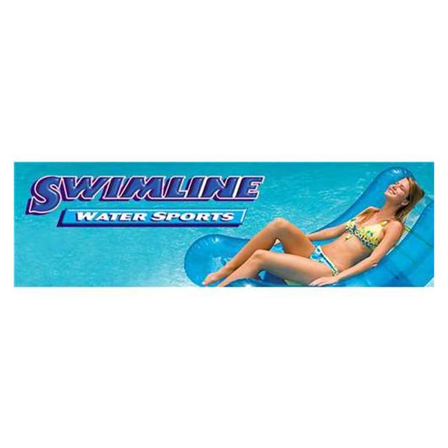 87950 + 87953 Swimline 48 Inch Pool Ladder with 9x36-Inch Vinyl Protective Pool Ladder Mat 10