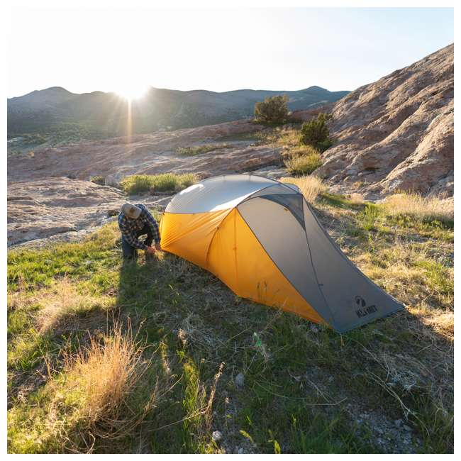 09M2OR01B Klymit 09M2OR01B Maxfield 2 Person 3 Season Lightweight Backpacking Camping Tent 6