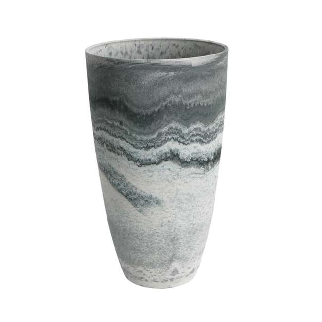 ALG-43429 Algreen 43429 Acerra Curved 11.5 x 20 Inch Planter, Marble