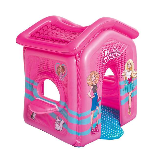 93208E-BW Bestway Indoor Toddler Kid Inflatable Barbie Malibu Playhouse