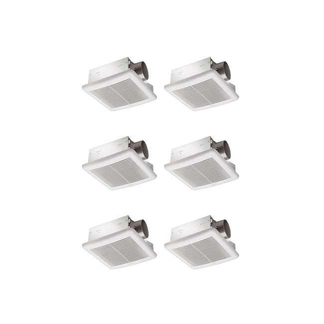 6 x SLM70H Delta Breez 70 CFM 2.0 Sones Ceiling Mount Bathroom Fan with Humidity Sensor (6 Pack)