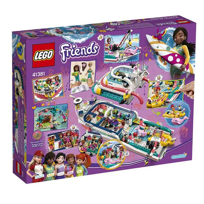 6251666 LEGO Friends Rescue Mission Boat 908 Piece Block Building Kit with 5 Minifigures 4