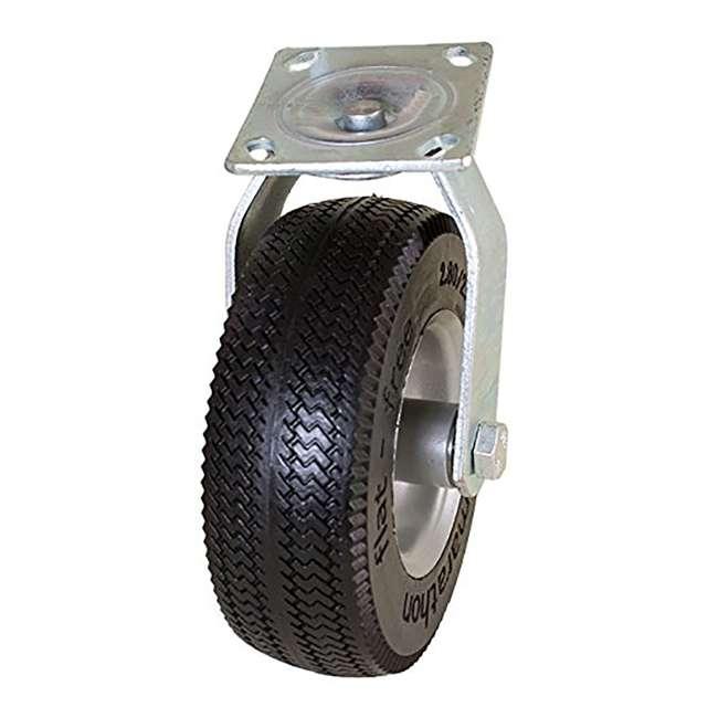 6 x MRTN-00316 Marathon Tire 8-Inch Swivel Caster with Flat Free Tire (6 Pack) 1
